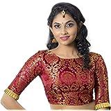 STUDIO Shringaar Women's Brocade Stitched Saree Blouse.