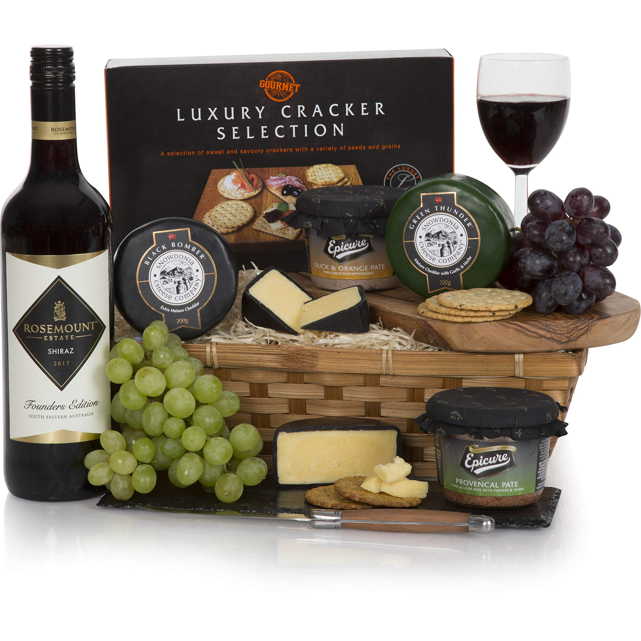 Wine, Cheese and Pate Hamper – Luxury Gift Hampers & Food Gifts Collection – Free UK Delivery