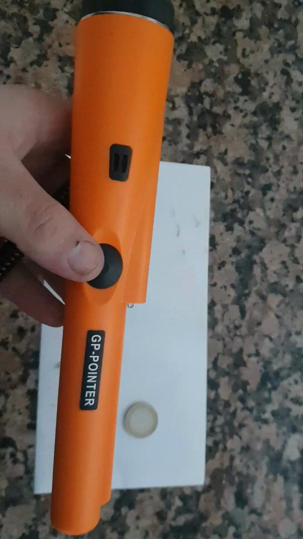 Detector de Metales Portátil, IP66 Impermeable Pinpointer De Mano Escaneo Lateral de 360° Pointer de Metales con Vibración del Zumbador y Automático ...