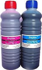 Daytone Fountain Pen Ink 500 ml. Turquoise Blue & Crimson Twin Pack