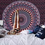Alishomtll Mandala Wandbehang Bohemian indisch Wandteppich Tapisserie Yoga Hippie psychedelisch Deko Tuch groß Tischdecke 210