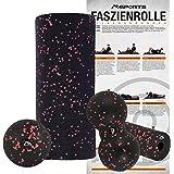 Faszienrolle + Massageball Premium inkl. Übungsposter | FASZIENSET - Professional Studio Qualität | Massagerolle Foamroller