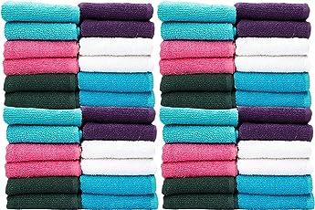 Casa Copenhagen-Basics Set Of 50 Pcs Face Towels-(Assorted Any 50 Pcs Face Towels)…