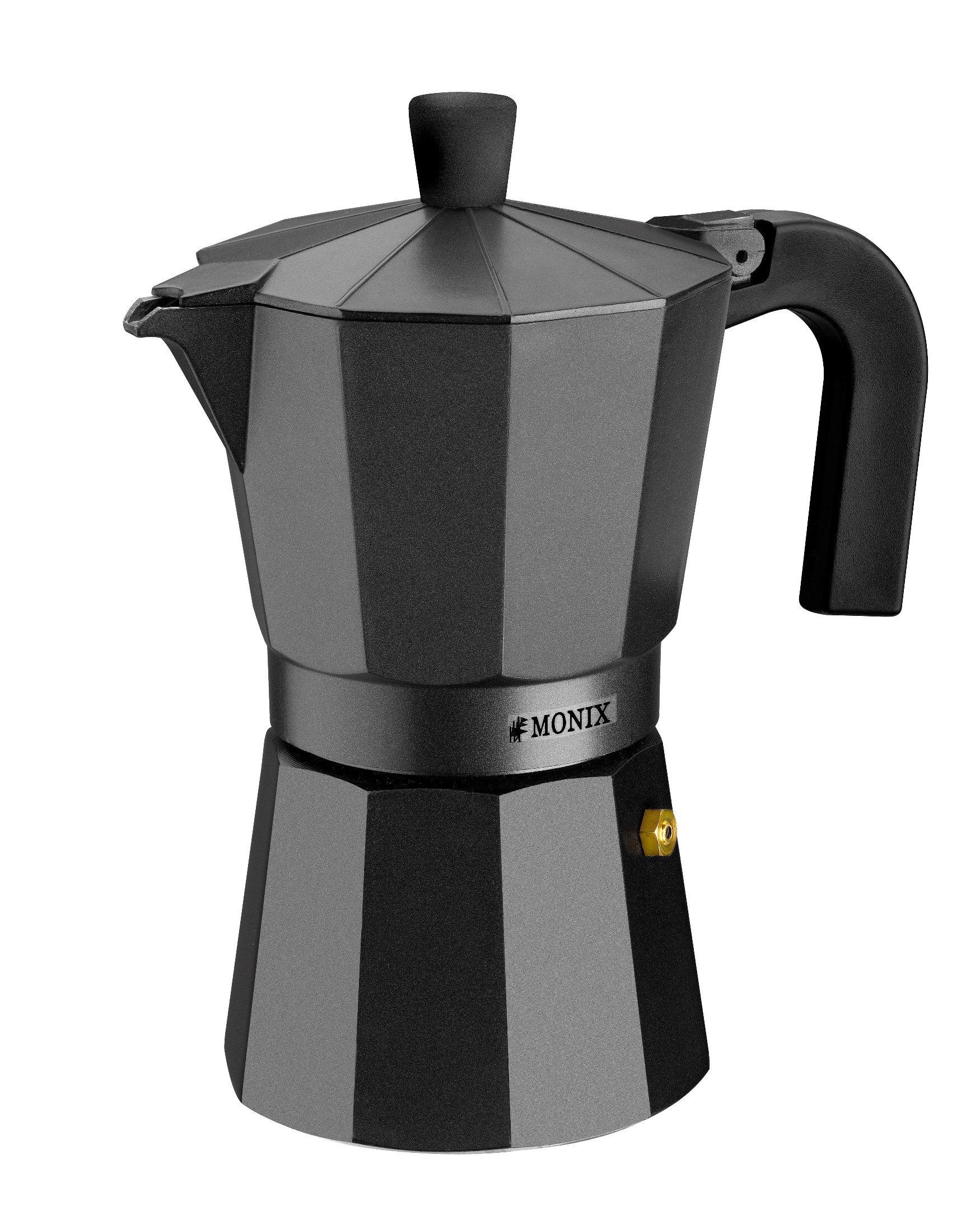 Monix Vitro Noir Espressokocher aus Aluminium 1 Taza