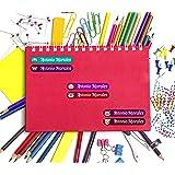 45 Etiquetas Adhesivas Personalizadas con Animalitos para marcar objetos, libros, fiambreras, etc. Medida 6 x 1 cm