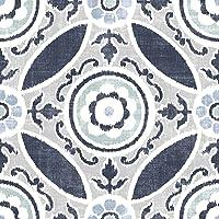 WallPops Sienna FP2484 Lot de 10 dalles de sol autocollantes Bleu