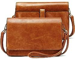 Damen Umhängetasche Geldbörse Brieftasche Damen Clutch Klein Crossbody Bag aus Leder