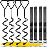 SCHMITZ.Tools Grondankerset Premium ankerset voor trampoline, grondanker, trampoline, broeikas, schommel, tuinhuis, camping,