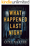 What Happened Last Night: A Psychological Thriller That Will Have You Guessing Until The End