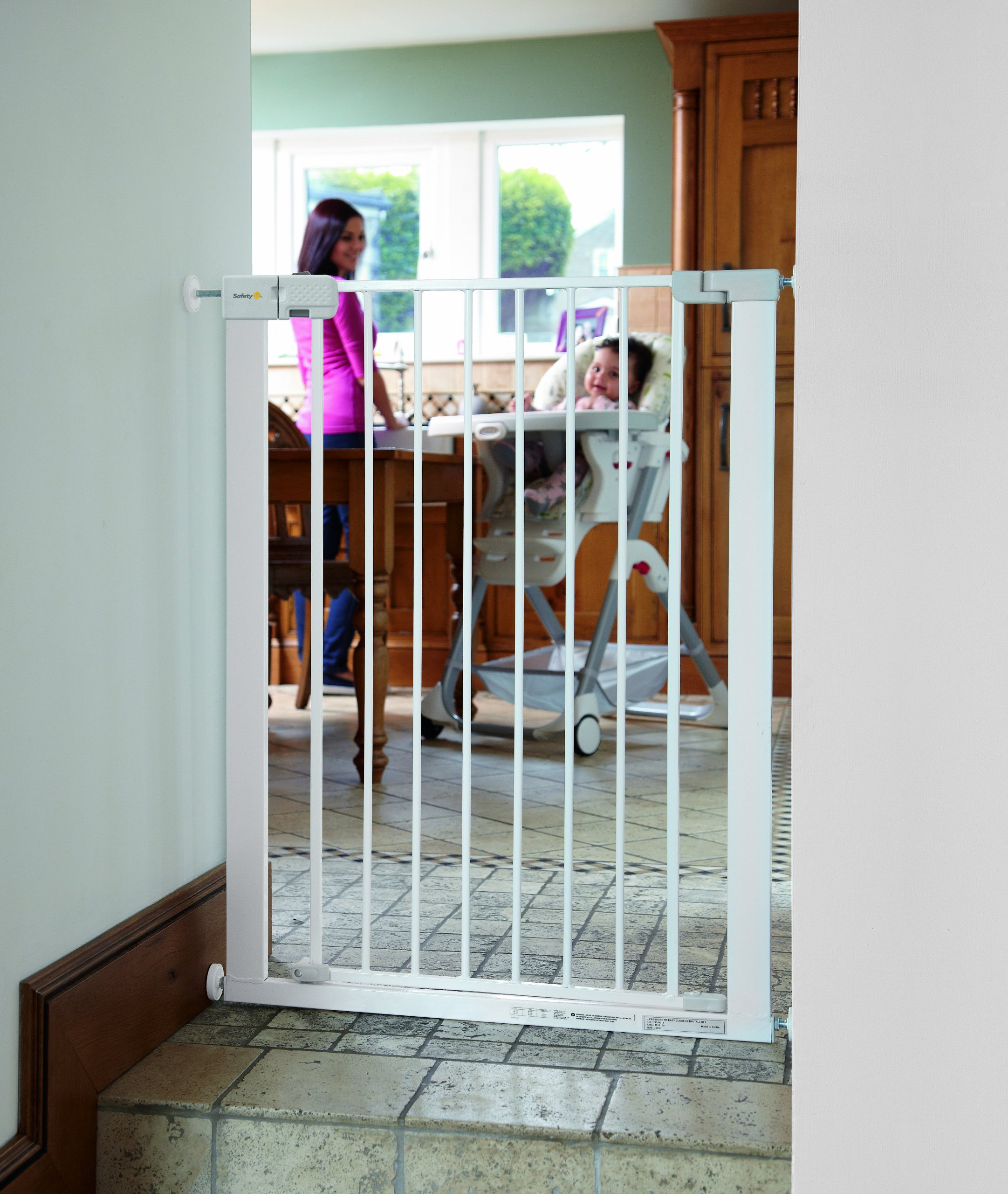 Safety 1st Simply Close Extra Tall Safety Metal Gate, Ideal for Kids and Pets, 73 to 80 cm, White