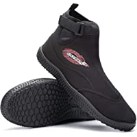 Osprey OSX Aqua Wetsuit Boots for Adults, Adjustable Surf Shoes with TPR Sole for Men Women, Black