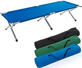 TRESKO XXL Campingbett Feldbett 190 x 64 x 44 cm Metallrohr - Belastbarkeit bis 150kg - in verschiedenen Farben