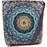 Bertoni Funky Damen Handtasche 2-in-1 Schultertasche und Umhängetasche mit Reißverschluss Innentaschen aus Filz Große Tasche
