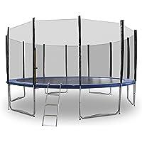 ms-point Gartentrampoline Trampoline Outdoor-Trampoline Fitness-Trampoline 185cm bis 490cm, inkl. Randabdeckung, Sicherheitsnetz und Leiter