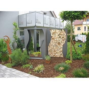 Kaminholzregal Metall Feuerverzinkt Pulverbeschichtet Amazonde Garten