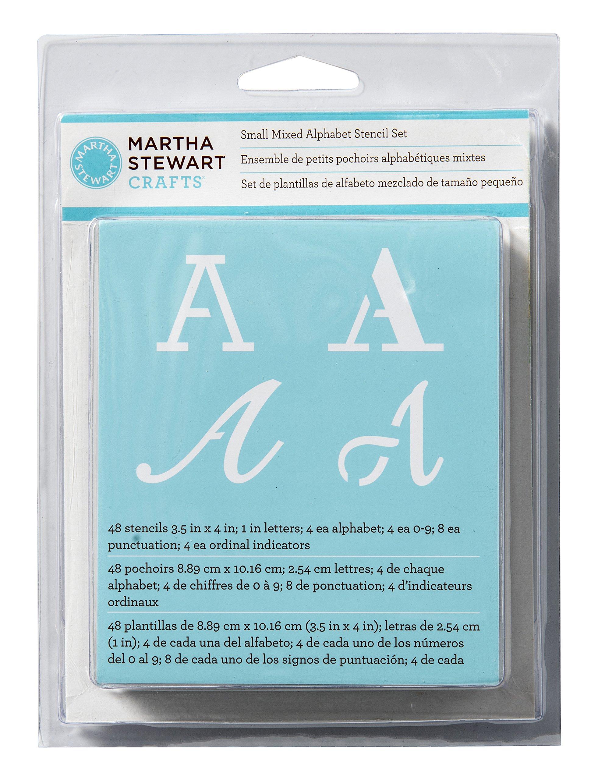 Martha Stewart Small Alphabet Stencils 48/Pkg-Mixed