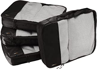 AmazonBasics Packing Cubes/Travel Pouch/Travel Organizer- Large, Black