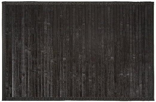 badeteppich carpemodo bambusmatte badvorleger bambusteppich farbe schwarz graae 50x80 cm unterseite rutschhemmend mit textilband eingefasst badteppich kleine wolke gunstig