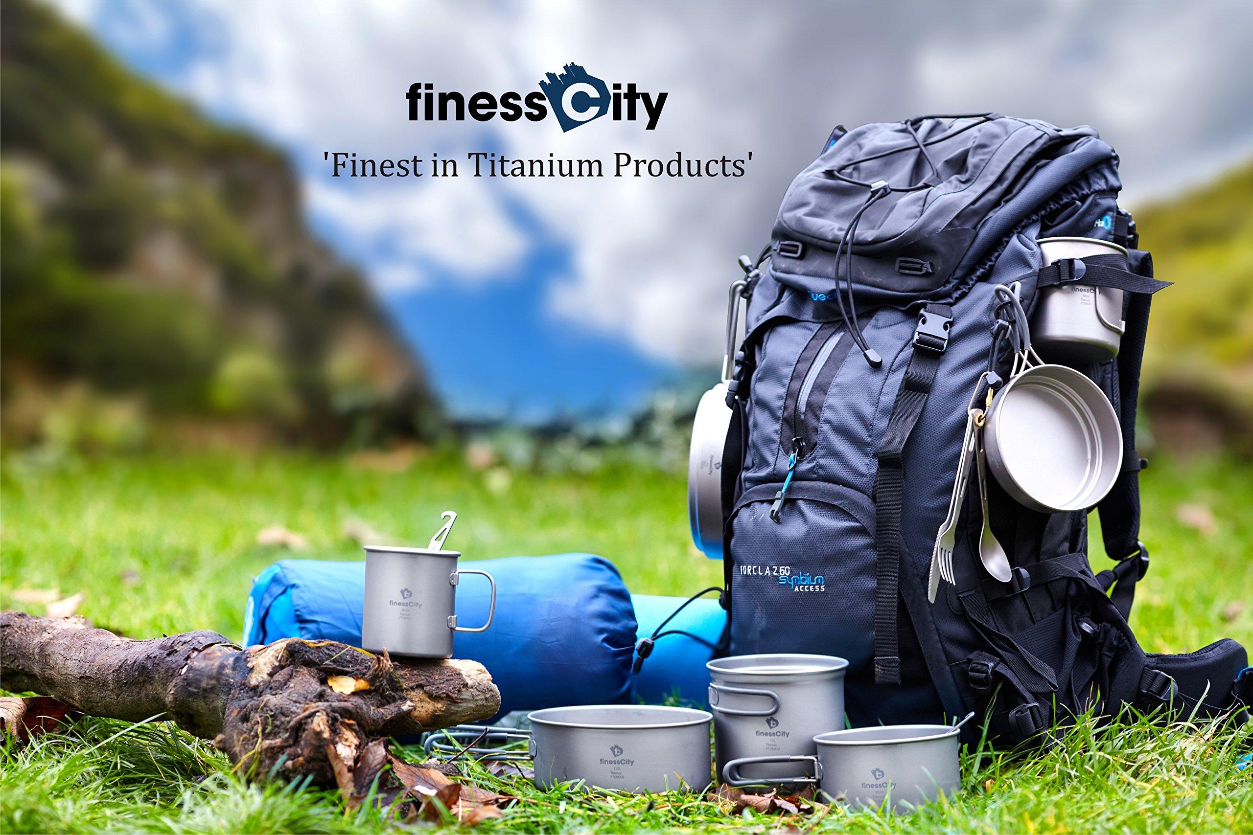 finessCity Titanium Utility Cutlery Set Extra Strong Ultra Lightweight (Ti), 3/4/5 Piece Straw Chopsticks Knife Fork…