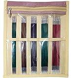 KnitPro Nadelspiel Set Royale 15cm Sockenstricknadel, Holz/Messing, Mehrfarbig 17 x 1 x 0.2 cm, 25-Einheiten