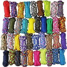 UOOOM 10er x 10ft Paracord Set Seile Schnüre DIY Handgemachte Webart für Armband Schlüsselanhänger Anhänger (Colorful x 10 pcs)