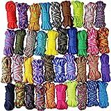 Aufodara Paracord set, touwen van 10 x 3,5 m, doe-het-zelf koorden, handgeweven methode voor armband, sleutelhanger en hanger