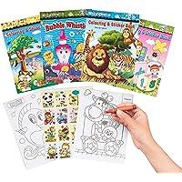 THE TWIDDLERS 24 Mini Libri da Colorare con Adesivi, Regalini per Bambini