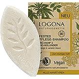 Festes Bio Shampoo von LOGONA Naturkosmetik Bio-Hanf & Bio-Holunder, Glanz Shampoo Bar für natürlich gesundes Haar, Wie Haars