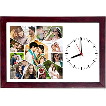 Buy 8in X 12in PERSONALISED/CUSTOMISED PHOTO FRAME WALL CLOCKS PHOTO ...