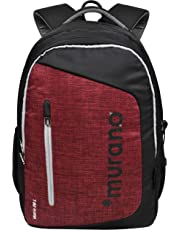 Murano Matrix 26 Ltr Laptop Backpack for 15.6 inch Laptop and Polyester Water Resistance Backpack- Maroon
