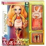 Lalka modowa Rainbow High - Poppy Rowan - Pomaranczowa lalka z wyjatkowymi strojami, akcesoriami i stojakiem na lalke - Rainb