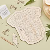 Ginger Ray Botanical Baby Shower Alternative Guest Book Grow Wood