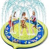 Jojoin Splash Pad, Almohadilla de Aspersión de 170 cm, Jardín de Verano Juguete para Niños, Aspersor de Juego de Verano, Engr