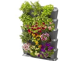 Gardena Natureup! Kit de Base Vertical avec Arrosage: Mur Végétal pour la Végétalisation de Balcons / Terrasses / Cours Inté