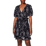 Marchio Amazon - find. Vestito Mini a Portafoglio in Cotone Donna