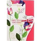 Heathcote & Ivory Sweet Pea & Honeysuckle Fragranced Drawer Liners, Paper, 5 Pack, Multi-Colour, 33.5cm x 50cm