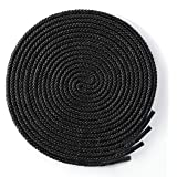 """Round Boot Laces [2 Pairs] Heavy Duty and Durable Shoelaces for Boots,Diameter: 3/16"""" Work Boots & Hiking Shoes"""