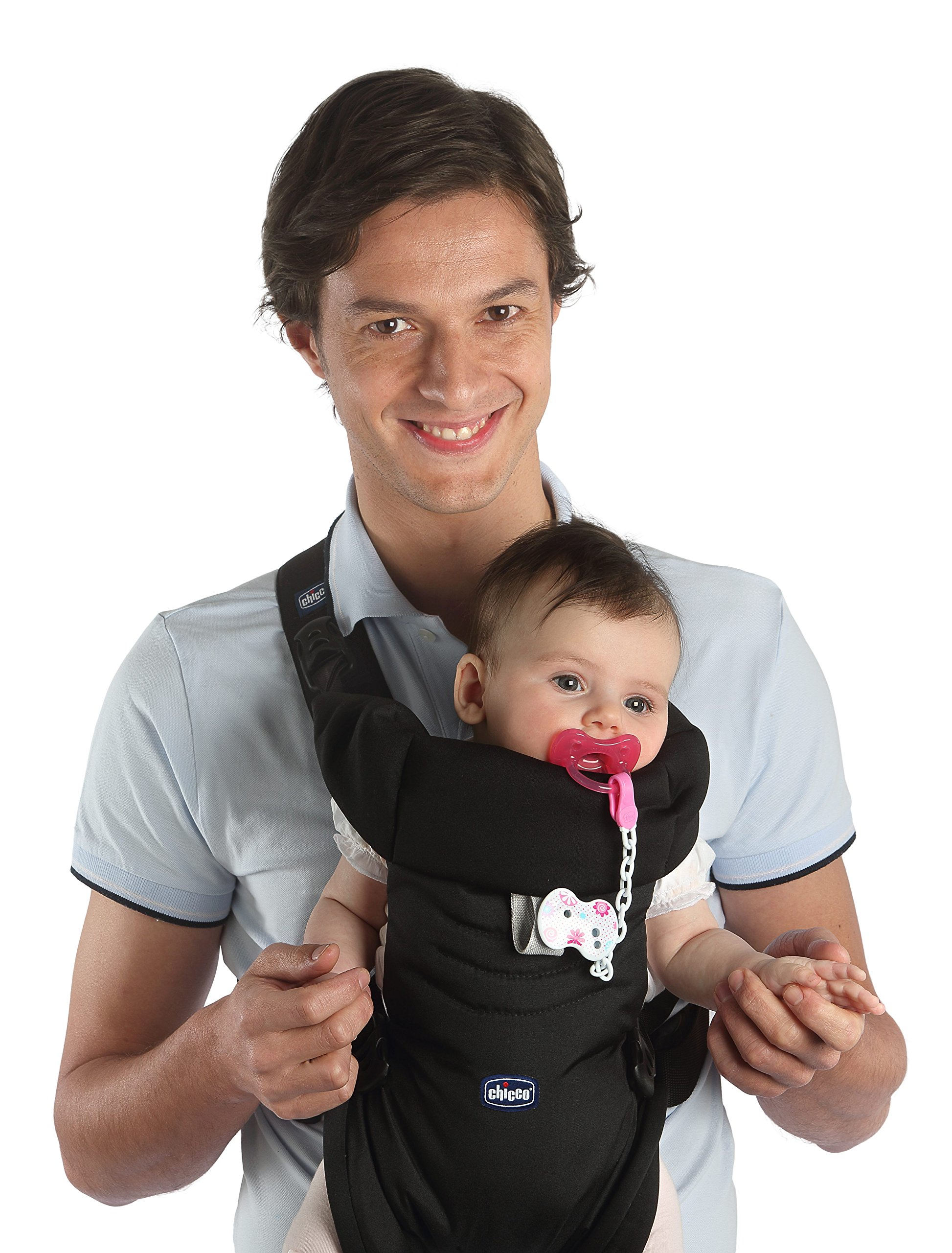 Chicco Easy Fit Sling Blue Passion Chicco The EasyFit is very comfortable for baby and practical for parents. It allows you to transport the child in a stand to parents from birth and facing the road from 4 months. Ergonomic, it ensures the correct position of your baby's hips, M, recommended by pediatricians. 2