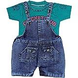 Kash-Vi Kids Denim Dungaree Dress Set