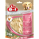 8in1 Delights Bâtonnets de porc torsadés, collation santé pour chien, 35 pièces (190 g)
