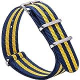 Gemony NATO Strap Bracelet de Montre Bande de Montre Watch Prime NATO Ballistic Nylon Bracelet 18mm 20mm 22mm