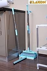 Klaxon Plastic Scrub Floor Broom with Long Extendable Handle (Blue)
