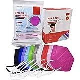ELIOX 10 Mascherine FFP2 Colorate Certificate CE Mascherina Antipolvere a 5 Strati Maschera Di Protezione Respiratoria (10 pc