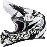 O'Neal Backflip Fidlock DH Helm RL2 Shocker Weiß DH FR MTB Fullface Mountainbike Downhill, 0500S-1