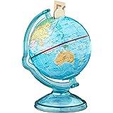Relaxdays Spardose Globus HxBxT: 16,5 x 14 x 14 cm, Politische Weltkarte, Englische Beschriftung, Weltkugel, Bunt (Einzeln)