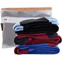 Laulax 3 Pairs Boys Cashmere-Like Long Hose Winter Sports Ski Socks Gift Set, Size Junior UK 1-6 / Europe 33-39, Black…