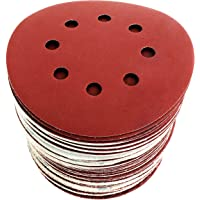 S&R Disque de Ponçage Papier Abrasif 125 mm - 60 Disques: P40/P60/P80/P120/P180/P240 8 trous pour Ponceuses orbitale