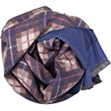MA.AL.BI.1947 Manifatture Alto Biellese Sciarpa duble face stampata in 100% Pura lana Vergine 37X180 cm