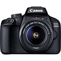 Canon EOS 3000D 18MP Digital SLR Camera (Black) with 18-55mm is II Lens, 16GB Card and Carry Case