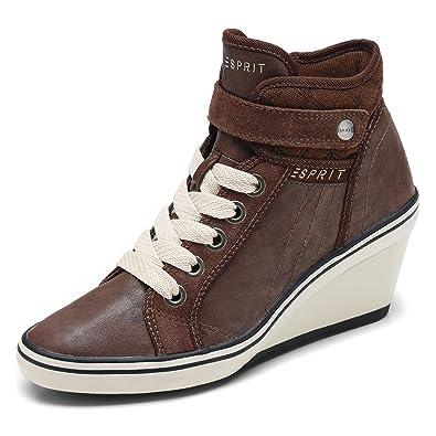wholesale dealer 47e78 47c17 ESPRIT Damen Sneaker LEXA WEDGE mit Keilabsatz braun oder schwarz Gr. 36 -  41